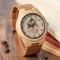 Reloj madera personalizado impresión UV Hombre-mujer 3