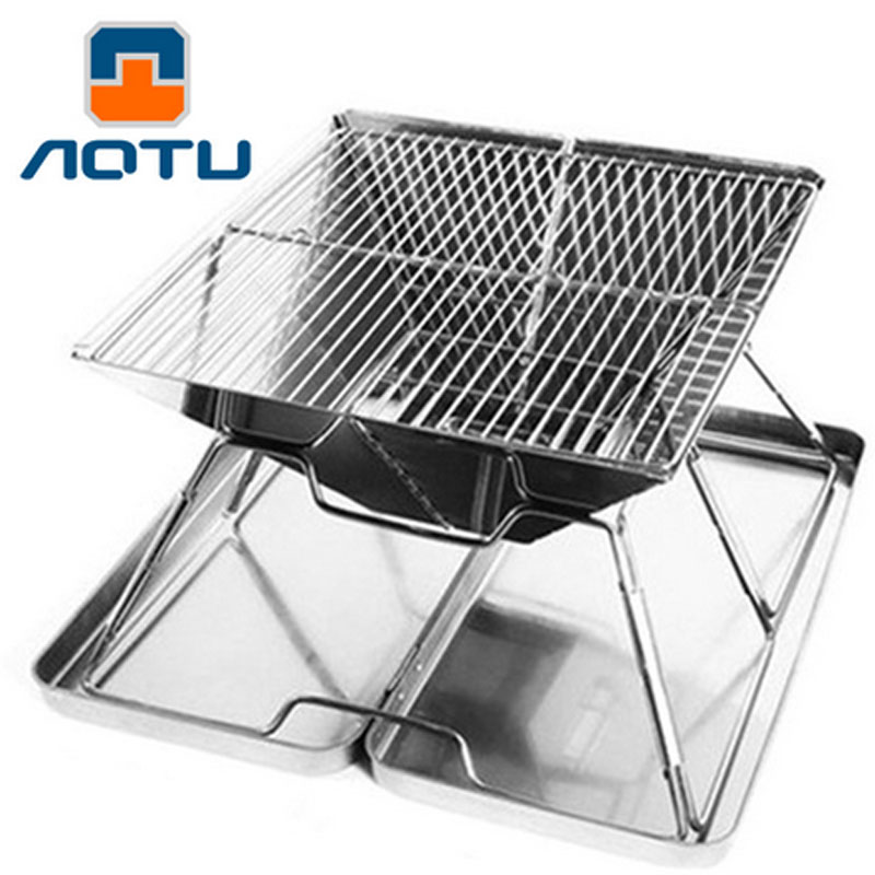 31*31*22cm outdoor portable Folding barbecue stove Grill Family BBQ Dedicated charcoal barbecue pits