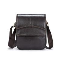 Vintage High Quality Natural Genuine Leather Men Messenger   Bags