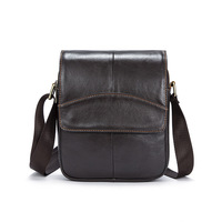 Vintage High Quality Natural Genuine Leather Men Messenger Bags