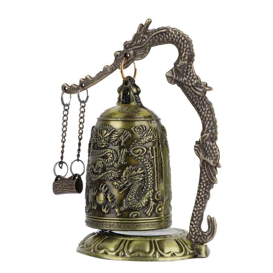 Luck Dragon วัดตกแต่ง Figurines Vintage Dragon Bell Hang ตกแต่งพุทธ Bell เครื่องประดับเครื่องประดับ Home Office