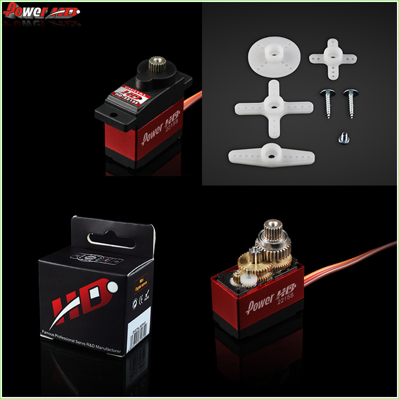 1pcs Power HD-2215S Micro Digital Servo 2.6KG 14.2g 21T with Metal Gear for 450 Helicopter jx pdi 5521mg 20kg high torque metal gear digital servo for rc model