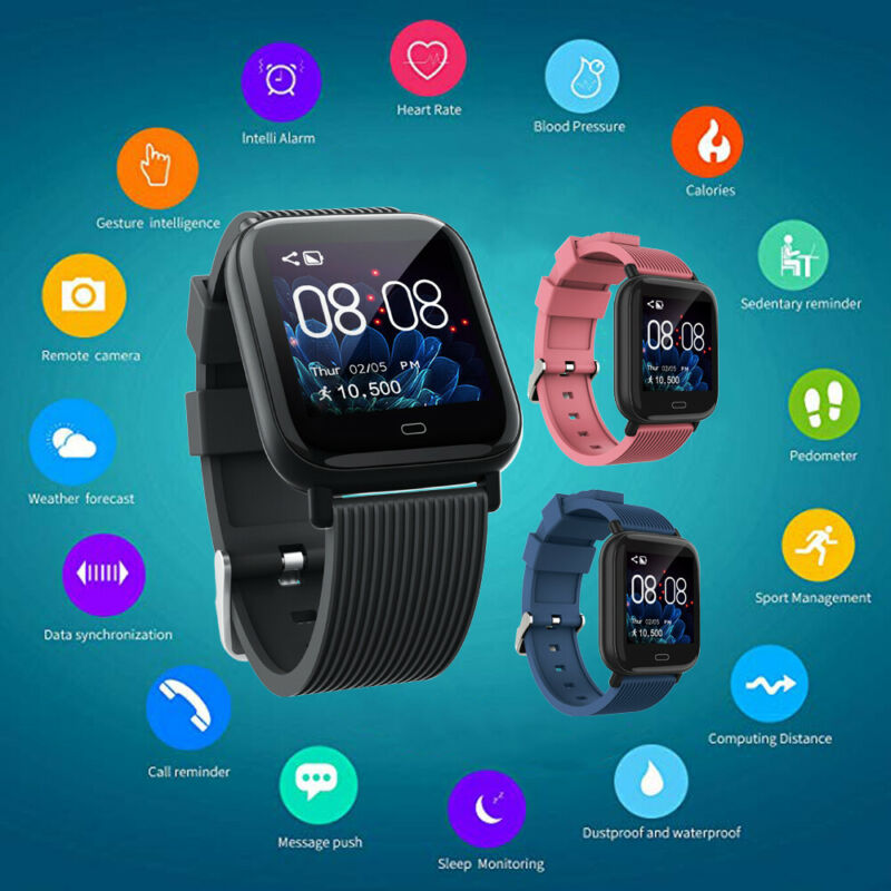 Fitness Tracker Bracelet Heart-Rate-Monitor Smart-Watch Bluetooth Multifunction Sport