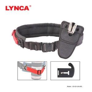 Image 3 - Correa de aleación para cámara Sony Canon Nikon SLR, accesorio de cintura para colgar en la cintura, con placa de hebilla, Correa SLR, placa de cama en la nube y billetera