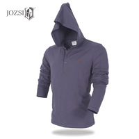 JOZSI V Neck Slim Fit Long Sleeve Breathabel T Shirt Mens Casual Hoodie Cotton Tops Tees Anti UV Shirt Male