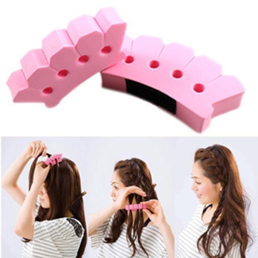 Hair Clip Charming French Style 1pcs Women Girls DIY Sponge Hair Braider Plait Hair Twist Braiding Tool Hair Styling Tools