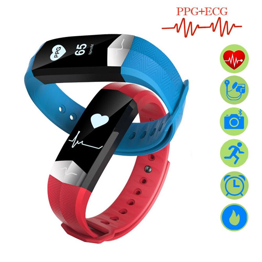 ZUCOOR Bande À Puce Bracelet Sang Pression ECG PPG Tracker RB76 Podomètre Sport Bluetooth Remise En Forme Bracelet Intelligent Pk Xaomi Xiomi