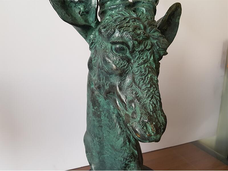 Bronze casting deer head sculpture (9)