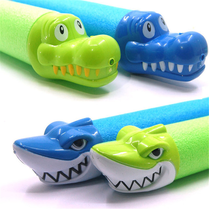 33cm Summer Water Guns Pistol Toys Squirter Blaster Outdoor Games Swimming Pool Shark Crocodile Play Water Gun Toy For Kids Boys