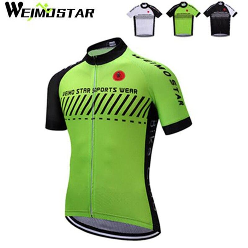 WEIMOSTAR Pro Team Pánské kolo Cyklistika Jersey Ropa Ciclismo Sportovní Pánské Cyklistické oblečení Košile s krátkým rukávem Topy S-XXXL