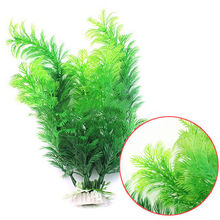 Pretty Fish Tank Aquarium Decor Green Artificial Plastic Underwater Grass Plant