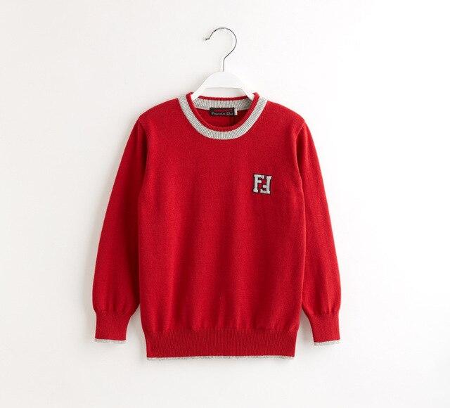 2 Цвет Детские Хлопчатобумажные трикотажные свитера мальчиков Буквы пуловеры Свитера Бренд одежда оптом
