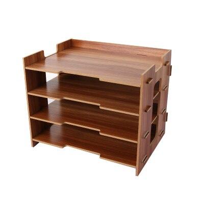 Деревянный держатель для журналов, экологичный держатель для файлов, Настольные принадлежности, органайзер, папка для файлов, стеллажи, коробка для хранения - Цвет: orange