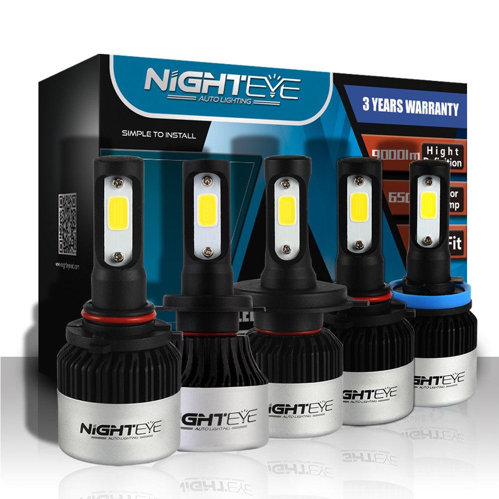 NIGHTEYE Super Helle Auto Scheinwerfer H7 LED H4 led H8/H9/H11 HB3/9005 HB4/9006 auto Birne 72 W 9000LM Autos Scheinwerfer 6500 K