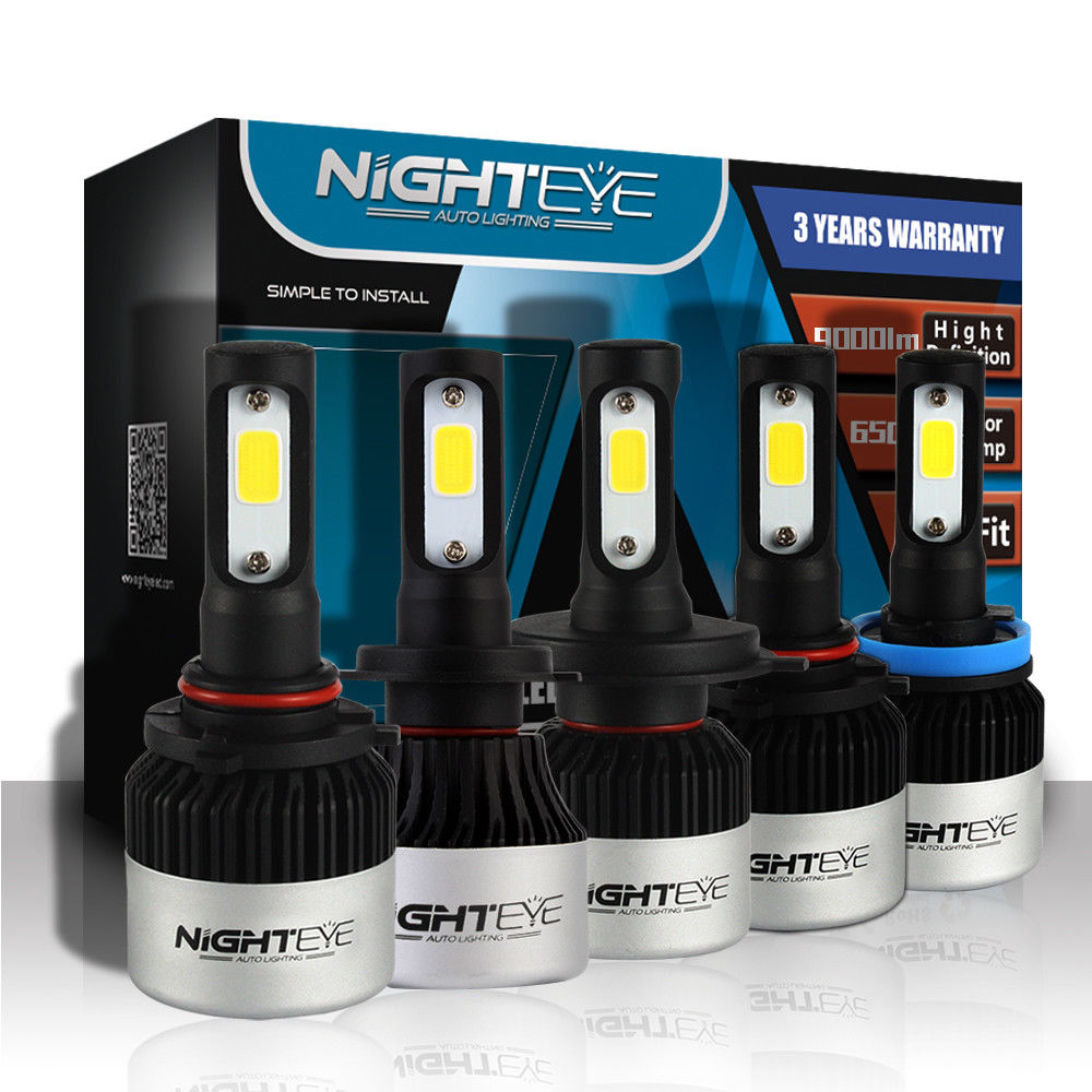 NIGHTEYE Super brillante coche faros H7 LED H4 led H8/H9/H11 HB3/9005 HB4/9006 bulbo Auto 72 W 9000LM automóviles faro 6500 K