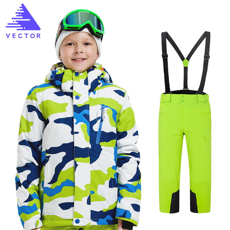 Boys Ski Jacket Pant Children Waterproof Windproof Clothing Kids Ski Set Winter Warm Snowboard Outdoor Ski Suit Boys Ski Set detector girls ski set children waterproof windproof clothing kids ski set winter warm snowboard outdoor girl ski jacket