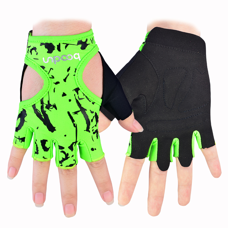 Women s Gym Fitness Gloves Half Finger Lycra Workout font b Weight b font font b