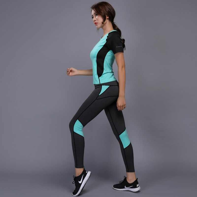 838227ad0ae OLOEY Women s sportswear Yoga Set Fitness Gym Clothes Running Tennis Shirt+Pants  Yoga Leggings Jogging