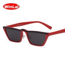 Winla Fashion Design Women Sun Glasses Flat Top Sunglasses Square Frame Classic Shades Vintage Eyewear Oculos de sol WL1145