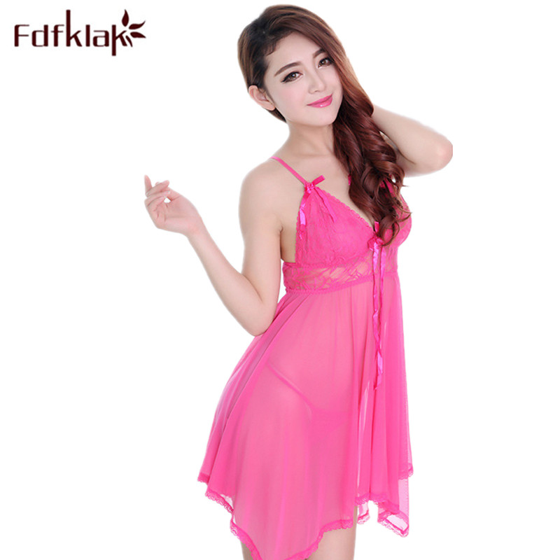 Fdfklak Summer New Lingerie Sexy Women   Nightgown   Nighties For Women   Nightgowns     Sleepshirts   Satin Sleepwear Lounge Dress Q681