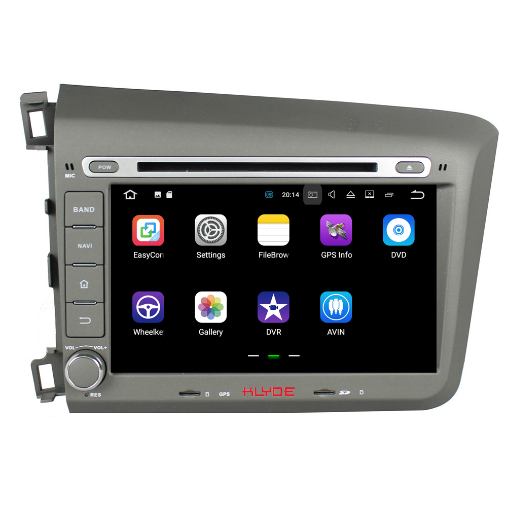 KLYDE 2 Din 8 Android 7 1 Car Multimedia Player For HONDA Civic 2012 Car font