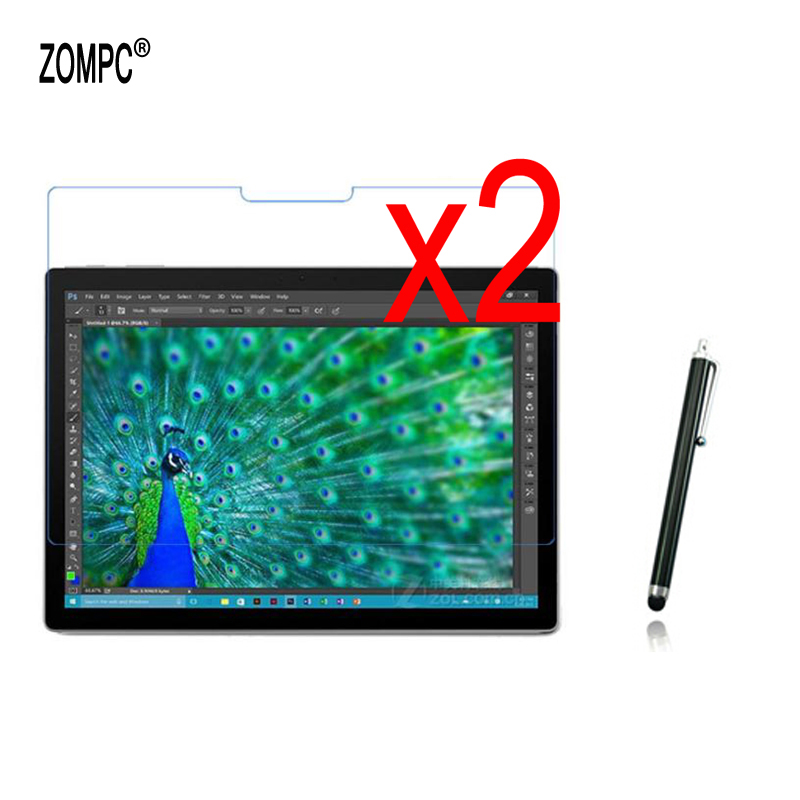 2x Film Guards +2x Clean Cloth +1x Stylus , Clear LCD Screen Protector Films For Microsoft Surface Book 13.5 inch 2015 2017 ...