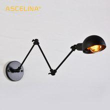 Luz de parede industrial do vintage lâmpada de parede ajustável arandela diy braço longo luminária múltipla escolha led luminárias