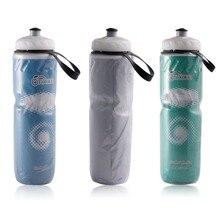 Botella de agua aislante portátil para exteriores de 710ml y 24oz, botella reciclable para deporte de ciclismo o bicicleta
