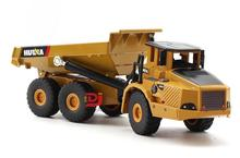 1:50 alloy articulated dump truck model toys, high imitation alloy engineering vehicle model, metal diecasting, wholesale