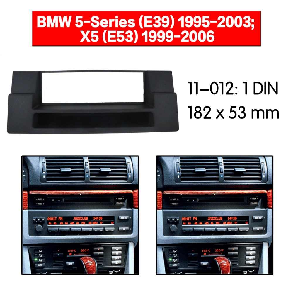 Car Radio Fascia multimedia Frame Kit For BMW 5-Series (E39) 1995-2003 Facia Panel Trim Dash CD ONE Din Audio Bezel dash