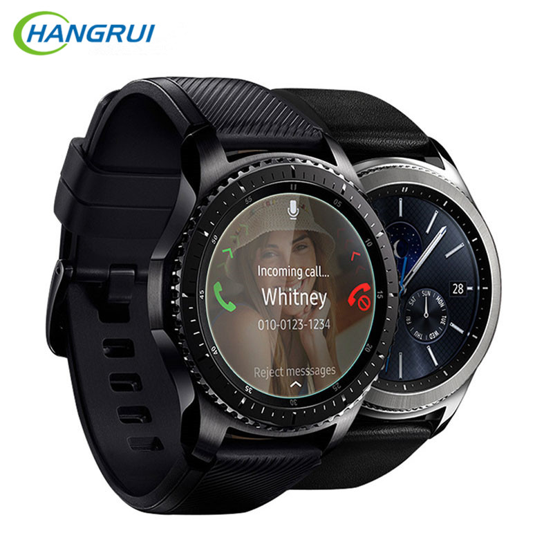 HANGRUI 9H 2.5D Tempered Glass Film For Diameter 30mm - 41mm Smart Watch Screen Protectors Anti-Scratch screen protective film