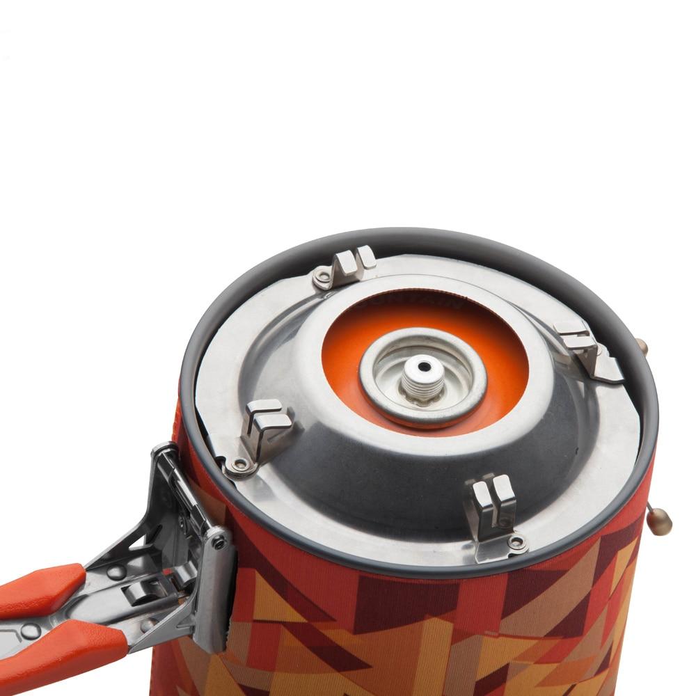 Système de cuisson personnel extérieur érable feu randonnée équipement de Camping OvenPortable meilleur poêle à gaz Propane brûleur ensemble Pot de FMS-X2 - 5