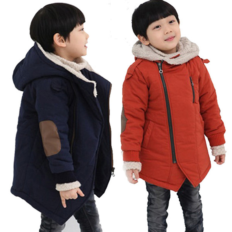Jacket Clothing Hooded Velvet Warm Baby Autumn Winter Children's New Plus Boy And Thickening