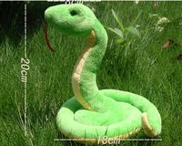 about 21x20cm new plush green snake toy soft simulation snake doll gift s1939