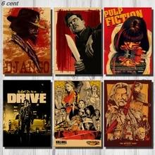 Quentin Tarantino Movie Poster Collection, Vintage Kraft Poster, Decorative Poster, Home Decor, Movie Wall Sticker, Poster Movie movie