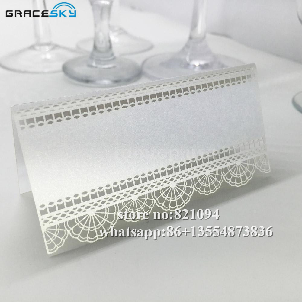 50Pcs free shipping laser cut Paper Lace design hollow out Wedding ...