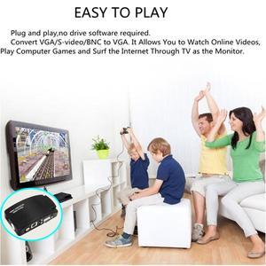 Image 5 - Adaptador av para vga, caixa de interruptor, adaptador de pc laptop, composto, vídeo av s video rca para pc, laptop, vga tv conversor