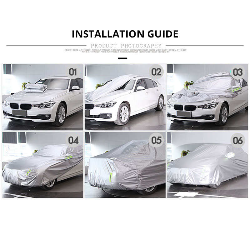Image 5 - SEAMETAL Car Covers Sun Protection Sedan SUV Tent Reflective Covers Rain Frost Snow Dust Waterproof  Car covers Sunshade Outdoor-in Car Covers from Automobiles & Motorcycles