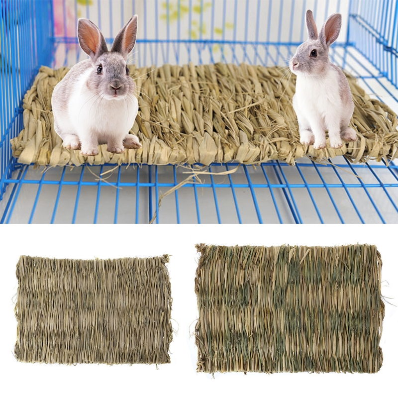 NEW Rabbit Grass Chew Mat Small Animal Natural Soft Grass Hamster House Guinea Pig Cage Bed House Pad Hamster Accessories