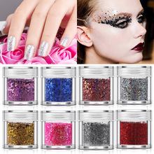 10g Mix Gradient Color Glitter Powder for Jewelry Making, Nail Sequins Art DIY Decorations