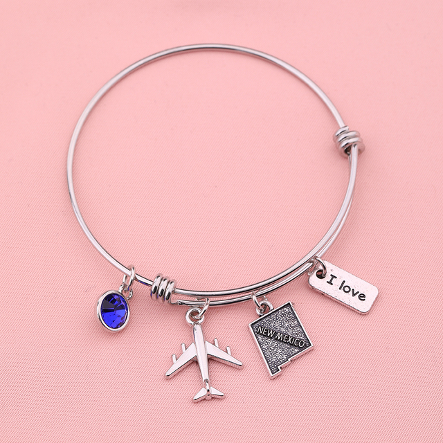 Cute Usa Map.My Shape New Mexico Bracelet Cute World America Usa State Map