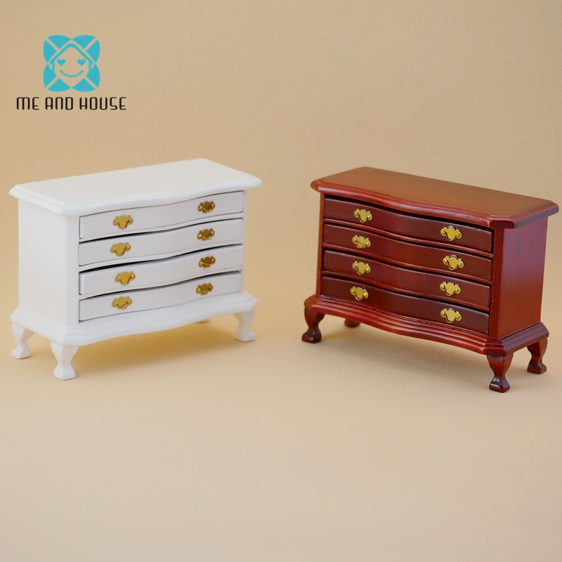 цена на 1:12 Scale New Dollhouse Wood Locker Staircase Cabinet Miniature Doll Living Room Furniture Accessories