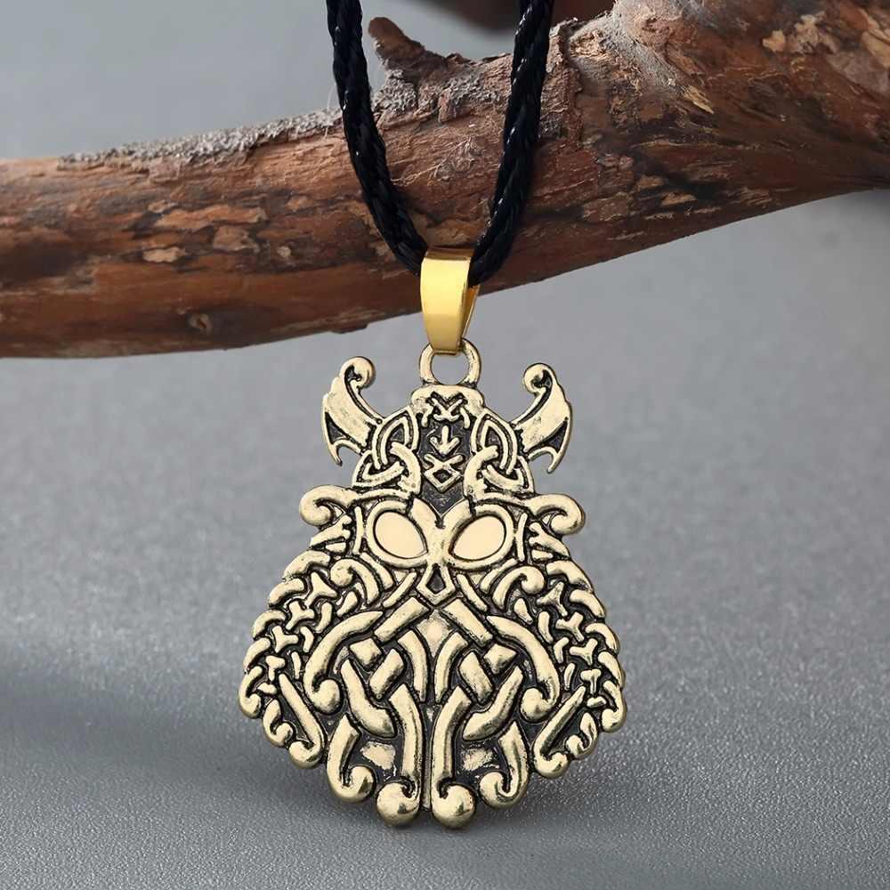 QIMING 2017 женское винтажное ожерелье в стиле панк Оловянное Божье один воин-Викинг подвеска-Norse Asatru ожерелье Руна ювелирные изделия