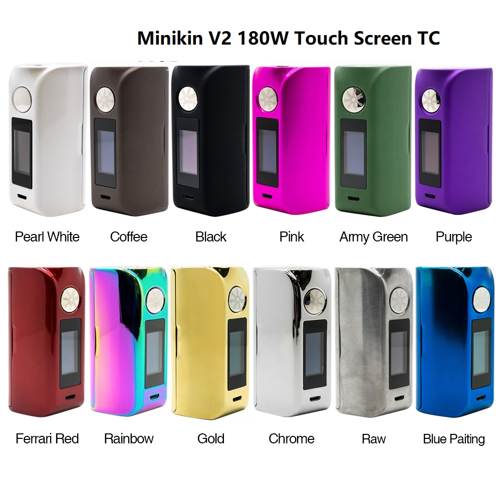 Heavengifts Asmodus Colossal 80W Touch Screen TC Box MOD & Minikin 2.0 180W Touch Screen TC MOD Vape Vs Triade DNA250C
