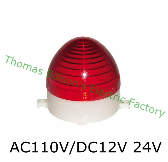 DMWD AC 110V/DC 12V/24V LTE-3072 LED Flashing warning Light traffic light S-60 indicator light