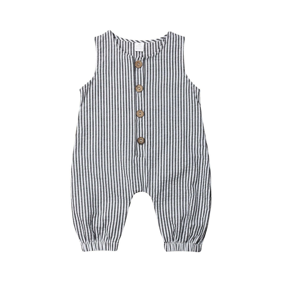 2019 New Baby Boy Cotton Sleeveless Striped   Romper   Jumpsuit Clothes Outfits Sunsuit 0-18M