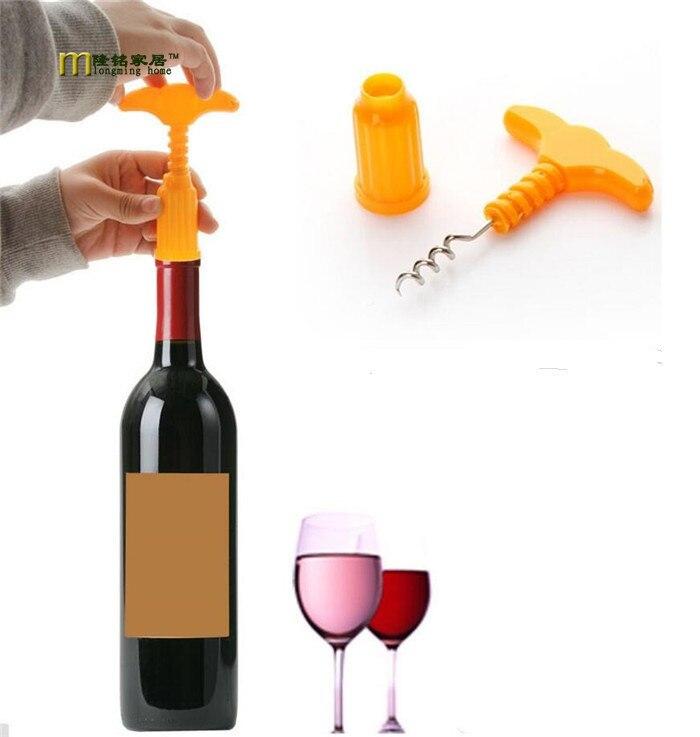 2pcslot wine opener abs stainless steel bottle opener sommelier wedding wine openers novelty - Wine Openers