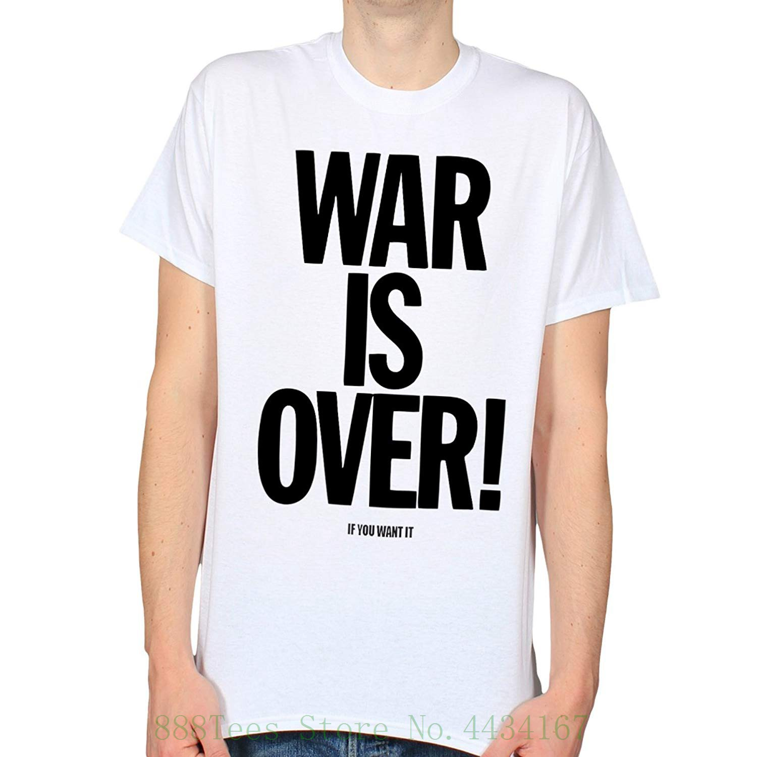 War Is Over Sixties Peace Hippy Counterculture T shirt Summer Cotton T shirt Fashion