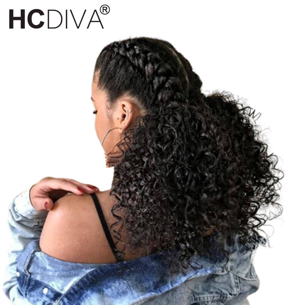 Kinky Curly Lace Front Human Hair Wig With Baby Hair 180 Mongolian Remy Short Human Hair
