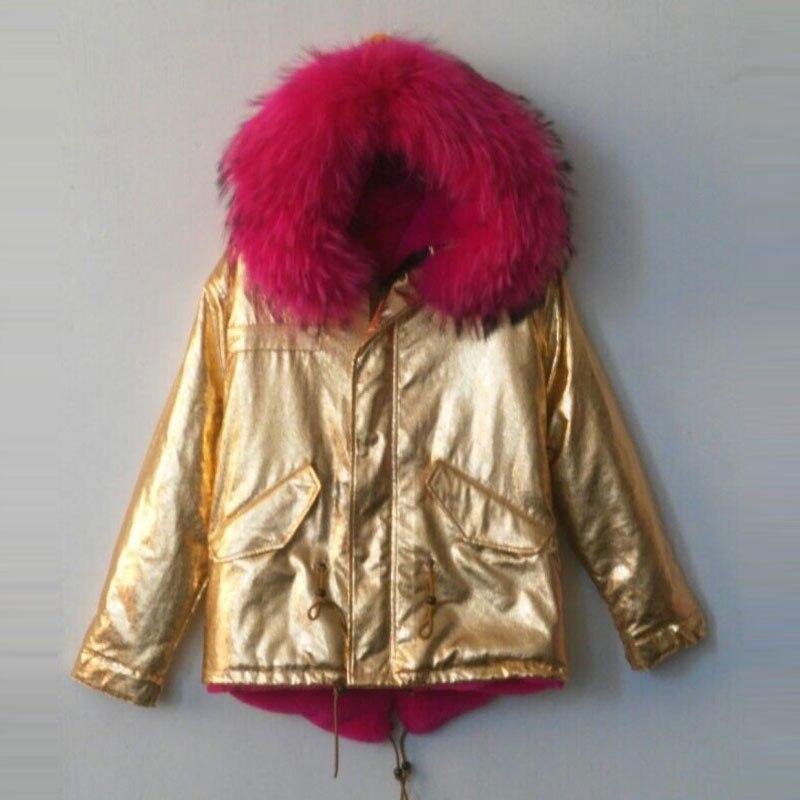 Veste Porter Style Mr Pour D'hiver Capuche Énorme Court Couleur amp; Vêtements Parka Rose Col Manteau Et Mrs Doré Chaud Ou wEZ5XnTqxf